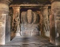 インド エレファンタ石窟群 第1窟 シヴァ神