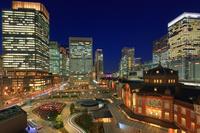 東京都 東京駅丸ノ内駅舎 夜景