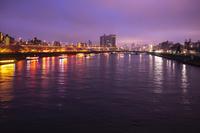 東京都 隅田公園と夕景