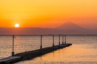 千葉県 原岡桟橋の夕景