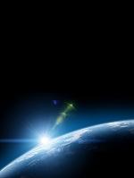 地球大気と日の出