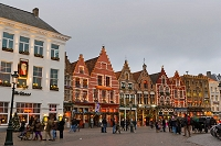 ベルギー ブリュージュ クリスマスの街並み