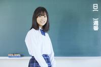 黒板と女子中学生