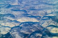 ロシア 機中より大地と川