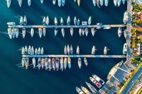 トルコ マルマリス 港のボート