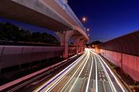 東京都 高架道路とバイパスの夜景