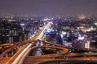 大阪府 東大阪市役所展望台から望む夜景