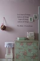 ピンク色の部屋