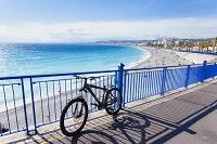 フランス ニース ビーチ アンジェ湾 自転車