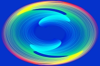 カラフルな光の渦イメージ CG
