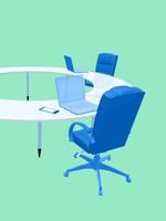 会議テーブルとビジネスチェア