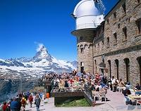 スイス ゴルナーグラートのレストランとマッターホルン