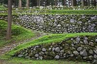石川県 七尾城 桜馬場下の石垣