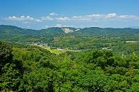 熊本県 横平山戦跡より田原坂方面を望む