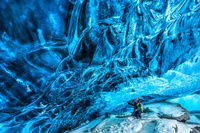 アイスランド スカフタフェットル国立公園 氷の洞窟