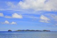 東京都 小笠原諸島 母島 前浜より望む平島と丸島と姉島