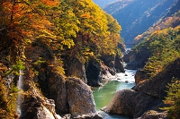 栃木県 紅葉の龍王峡