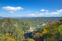 赤岩展望台より望む竜神大吊橋
