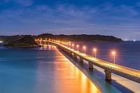 山口県 角島大橋 夜景
