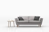 グレーのソファとサイドテーブル 3DCG