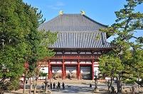 奈良県 東大寺の中門と金堂(大仏殿)