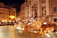 イタリア ローマ トレヴィの泉 夜景