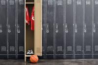 バスケットボールのロッカールーム