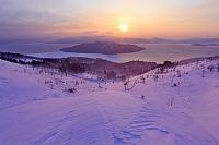 北海道 美幌峠から屈斜路湖の朝