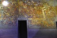 インド アジャンター石窟群 第1窟 壁に描かれた絵