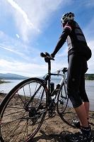 山梨県 富士山とサイクリスト