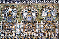 チュニジア フセイン朝の宮殿の模様のタイル