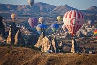 トルコ カッパドキアと気球