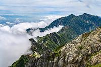 五竜岳山頂から見る鹿島槍ヶ岳