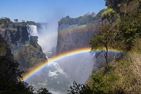 ジンバブエ 虹とヴィクトリアフォールズ