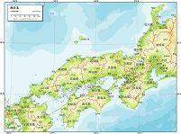 西日本 地勢図