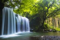 熊本県 小国町 夏の鍋ヶ滝