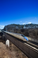 長野県 北陸新幹線 鉄橋を渡るE7系W7系