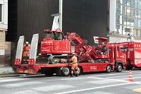 銀座の防災訓練・東京消防庁の車両運搬車