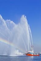 神奈川県 横浜市出初式 消防船ひりゆうと消防艇よこはま