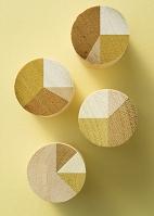木製の円グラフ