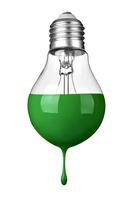 緑色の電球