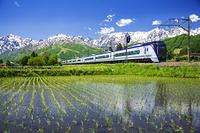 長野県 大糸線と北アルプス