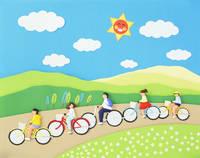 サイクリング   (ペーパークラフト)