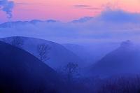 熊本県 阿蘇外輪山の夜明け