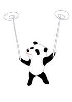 おもしろパンダ(皿回し)