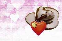 ハートのチョコレートとハート