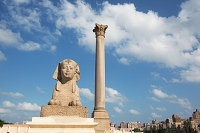 エジプト ポンペイの柱とスフィンクス(アレキサンドリア)