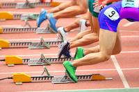 陸上競技 スタートする選手たち