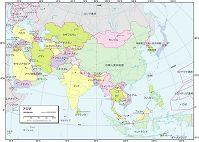 アジア 行政区分図