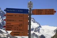 コース案内板 ゴルナーグラード ツエルマット スイス ヨーロ...